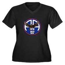 Falcon v1 -  Women's Plus Size Dark V-Neck T-Shirt