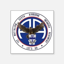 """Falcon v1 - 1st-325th Square Sticker 3"""" x 3"""""""