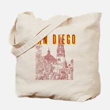 SanDiego_10x10_CaliforniaTower_BrownYello Tote Bag