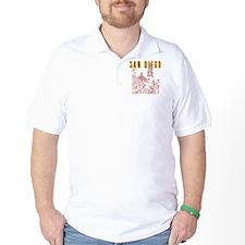SanDiego_10x10_CaliforniaTower_BrownYel T-Shirt
