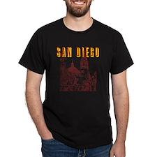SanDiego_10x10_CaliforniaTower_BrownY T-Shirt