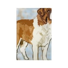 saint bernard portrait2 Rectangle Magnet