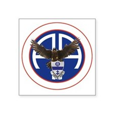 "Falcon v1 - 1st-325th - whi Square Sticker 3"" x 3"""