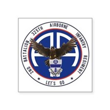 "Falcon v1 - 2nd-325th Square Sticker 3"" x 3"""