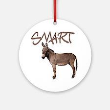 Smart Donkey1 Round Ornament