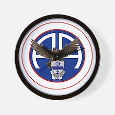 Falcon v1 - 2nd-325th - white Wall Clock