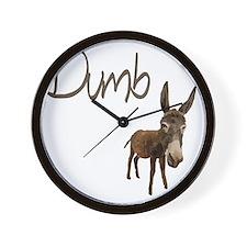 dumb_donkey Wall Clock