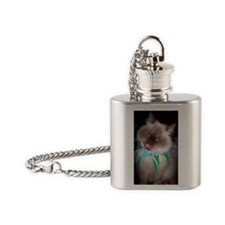 Funny faces Flask Necklace