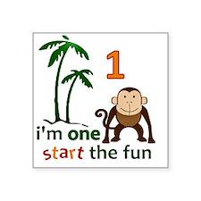 "monkeypalm2 Square Sticker 3"" x 3"""