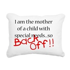 Back Off Rectangular Canvas Pillow