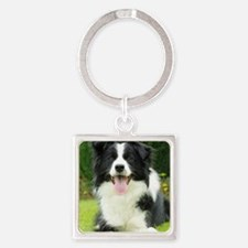 Border Collie 9A014D-14 Square Keychain