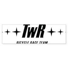 TWR Racing black Bumper Sticker