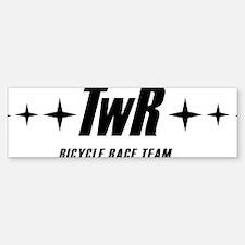 TWR Racing white Bumper Bumper Sticker