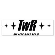 TWR Racing white Bumper Sticker