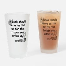 Kafka Book Quote Drinking Glass