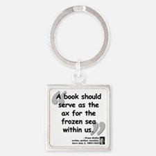 Kafka Book Quote Square Keychain