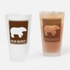 brown_bear_viewing_area_oddsign1 Drinking Glass