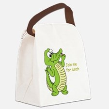 Join me for lunch Canvas Lunch Bag