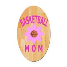 Basketball Mom Jornal, Diary Oval Car Magnet