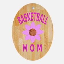 Basketball Mom Jornal, Diary Oval Ornament