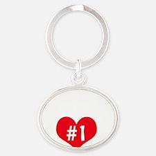 RAFA number one Oval Keychain