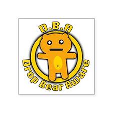 "Drop Bear Aware Square Sticker 3"" x 3"""