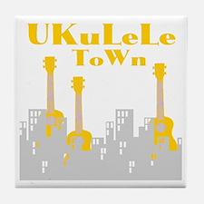Ukulele town t-shirts Tile Coaster