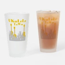 Ukulele town t-shirts Drinking Glass