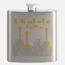 Ukulele town t-shirts Flask