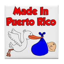 Made In Puerto Rico Boy Tile Coaster