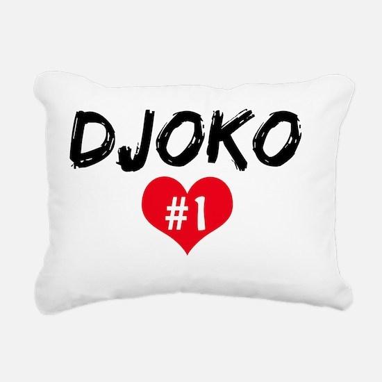 DJOKO number one Rectangular Canvas Pillow