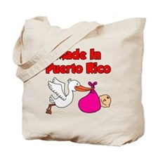 Made In Puerto Rico Girl Tote Bag