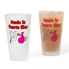 Made In Puerto Rico Girl Drinking Glass