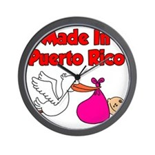 Made In Puerto Rico Girl Wall Clock