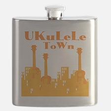 Ukulele Town Orange Flask