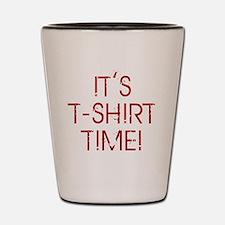 Jersey-Shore-(t-shirt-time)-red-text Shot Glass