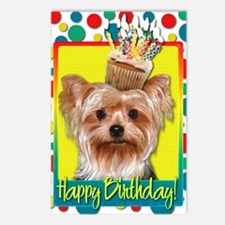 BirthdayCupcakeYorkie Postcards (Package of 8)