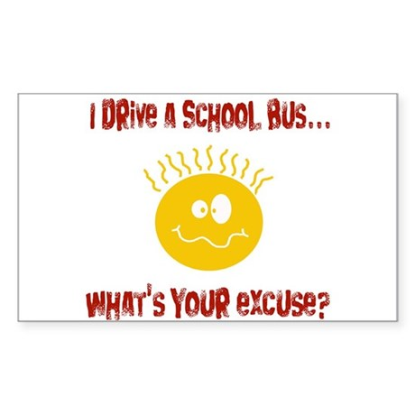 school bus driver Rectangle Sticker