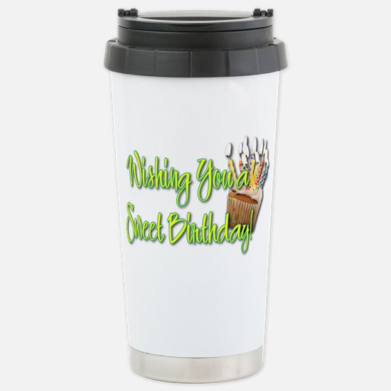 BirthdayCupcakeInside Stainless Steel Travel Mug