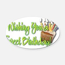 BirthdayCupcakeInside Oval Car Magnet
