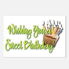 BirthdayCupcakeInside Postcards (Package of 8)