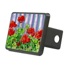 Geraniums on Fence Hitch Cover