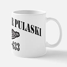 cpulaski black letters Mug
