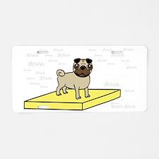 Table-Pug-Fawn-DK Aluminum License Plate