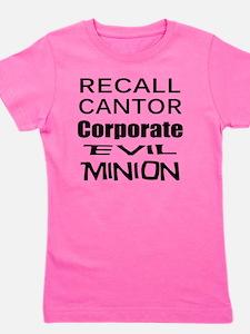 Cantorr Corporate Evil Minion bk T Shir Girl's Tee