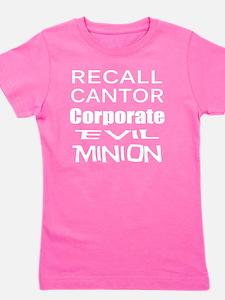 Cantorr Corporate Evil Minion w T Shirt Girl's Tee