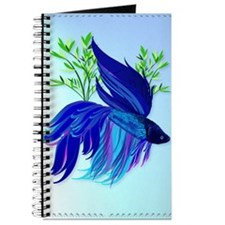 LargePosterBig Blue Siamese Fighting Fish Journal