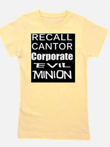 Cantorr Corporate Evil Minion  bk-w T S Girl's Tee