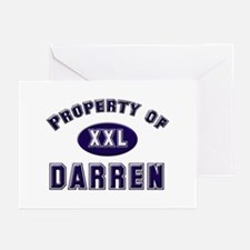 Property of darren Greeting Cards (Pk of 10)