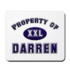 Property of darren Mousepad